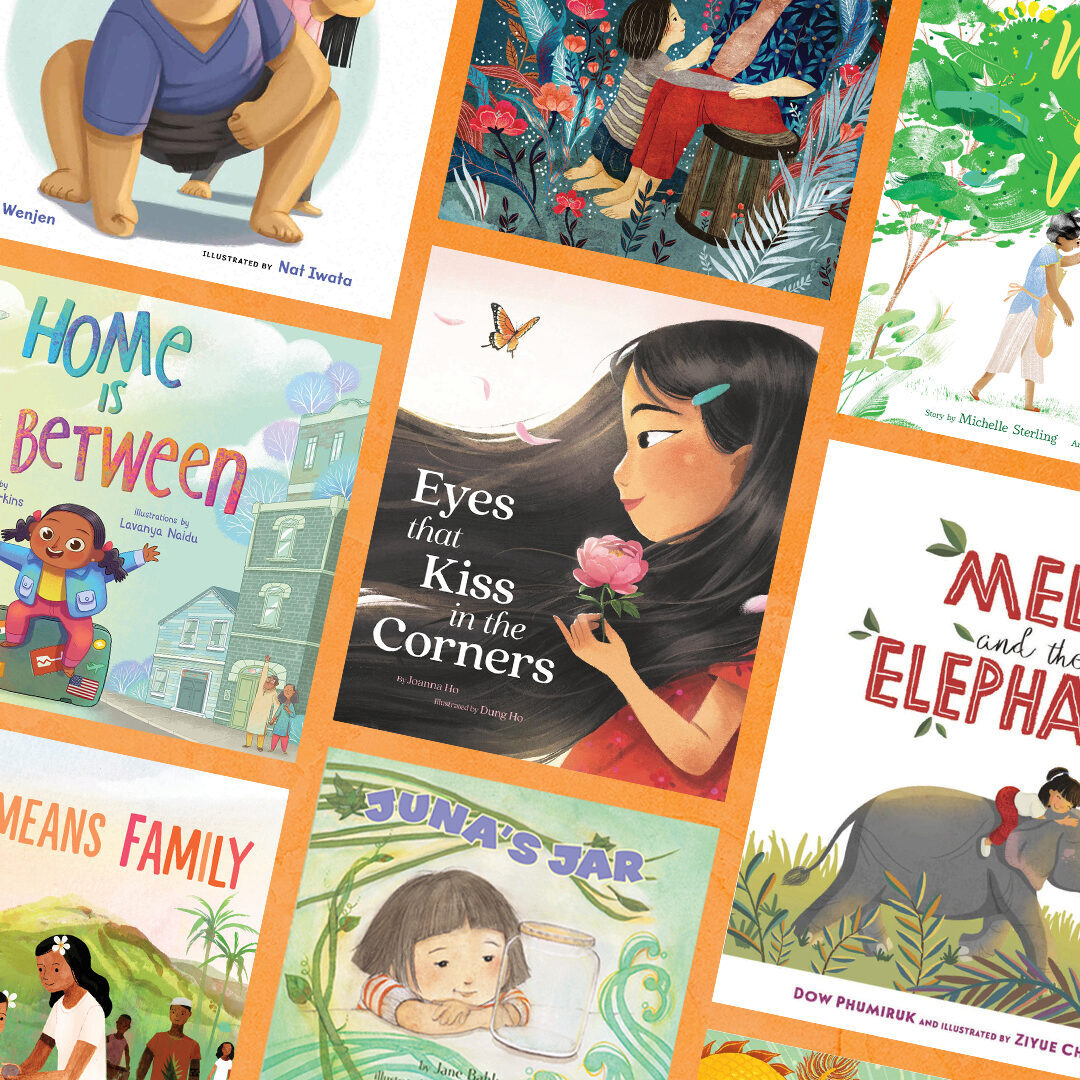 Collage of colorful picture book covers