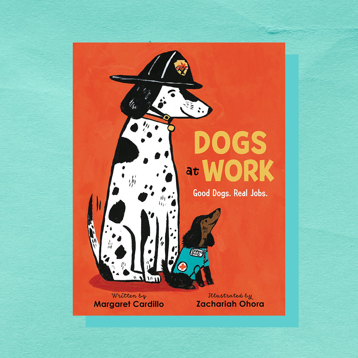 Book cover of Dogs at Work by Margaret Cardillo