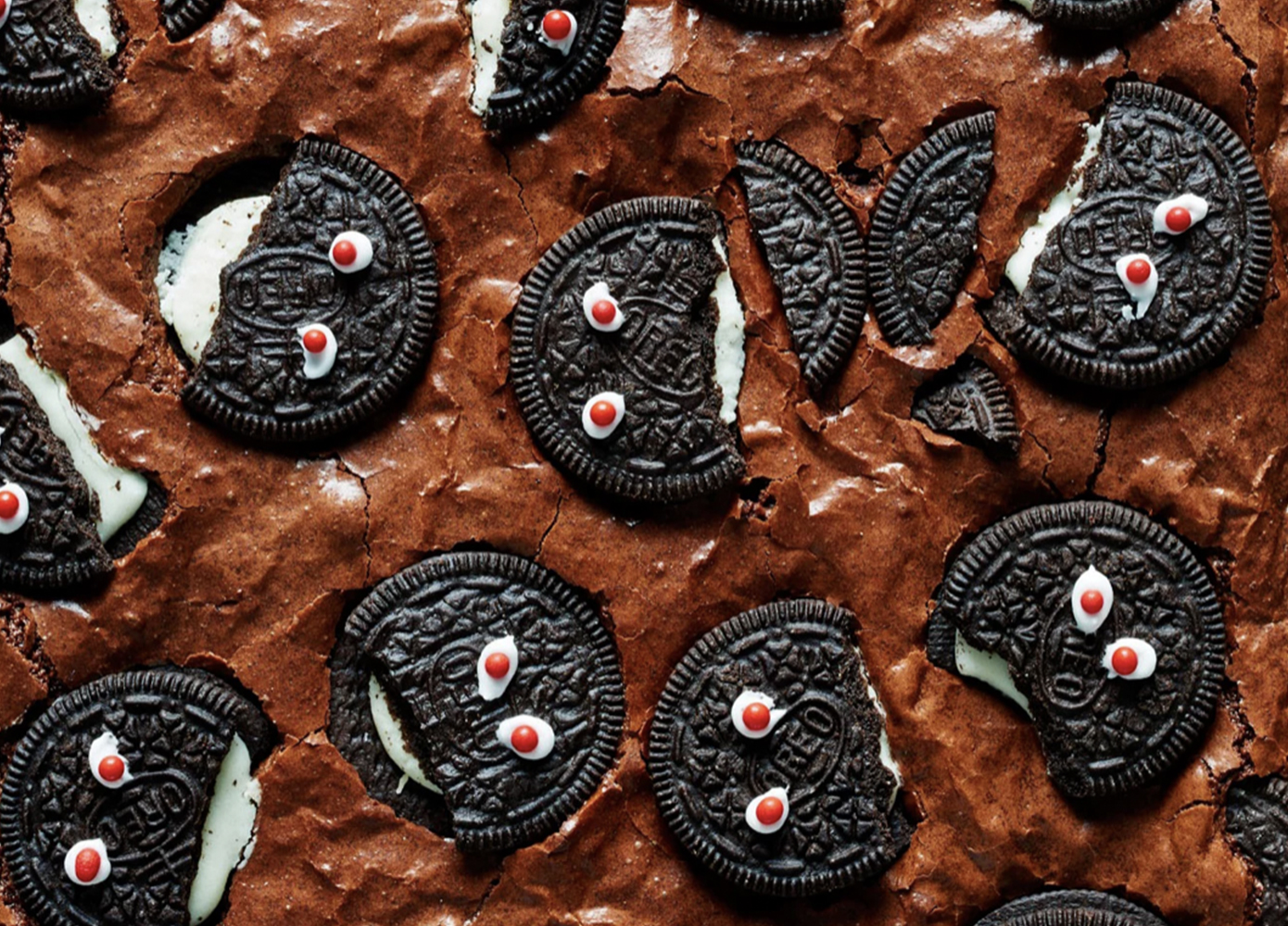 brownies with Oreo monster faces