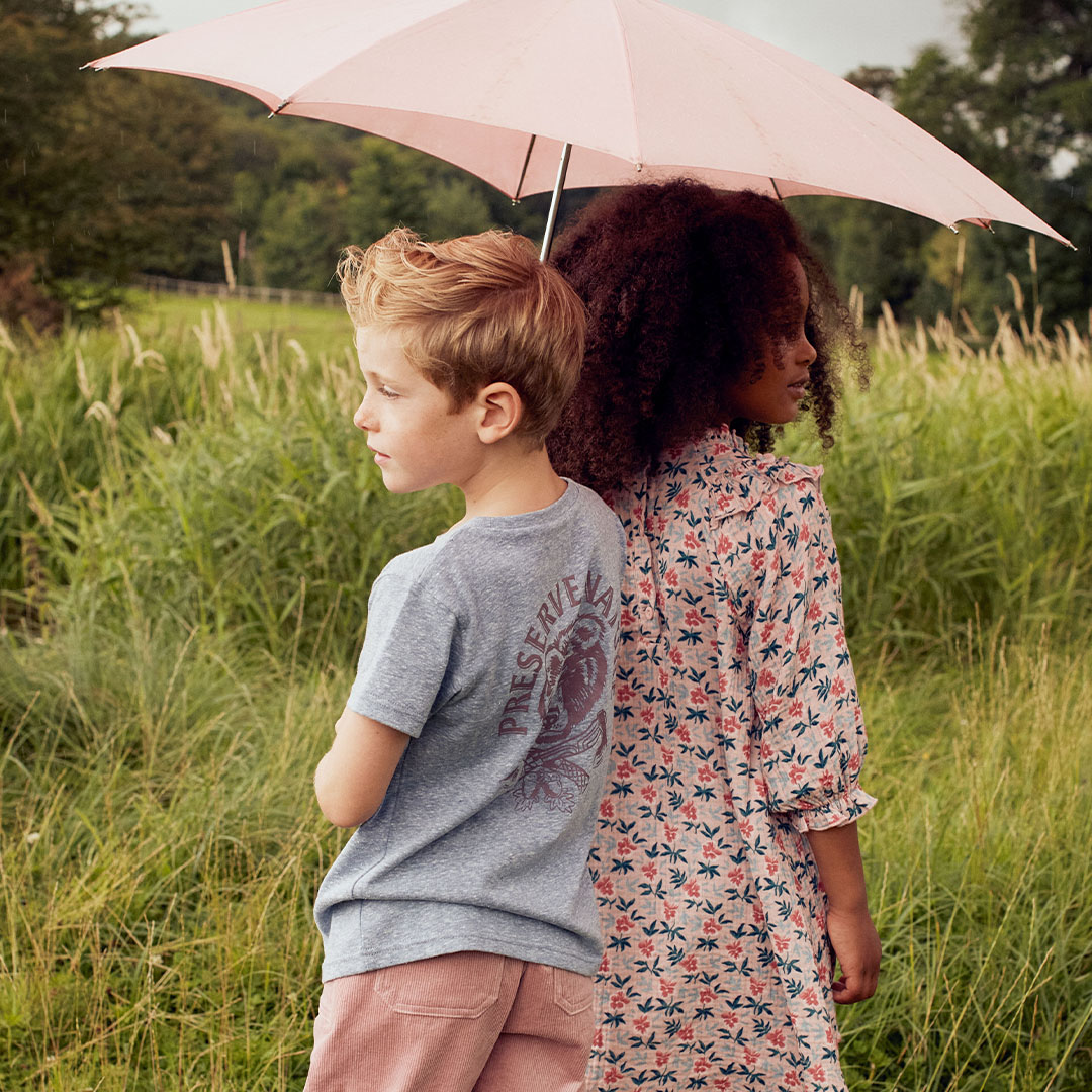 Children standing in a field