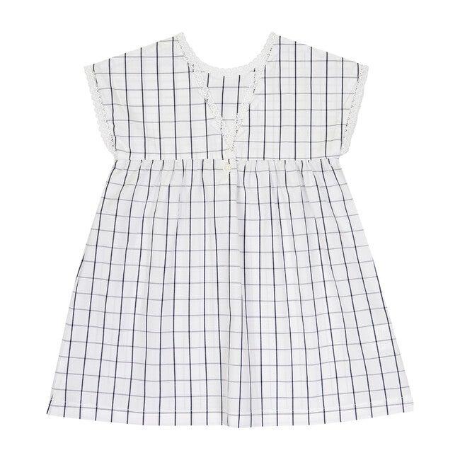 Verlaine Dress, Black Squares