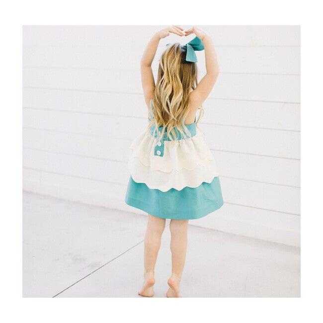 Swan Dress, Blue & White