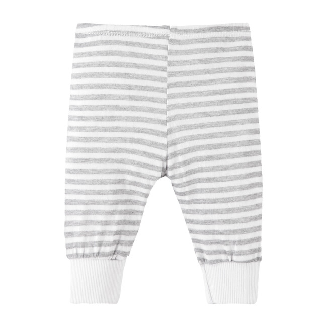 Heathered Stripe Legging, Modern White