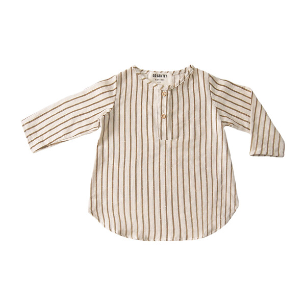 Placket Top, Adobe Stripe