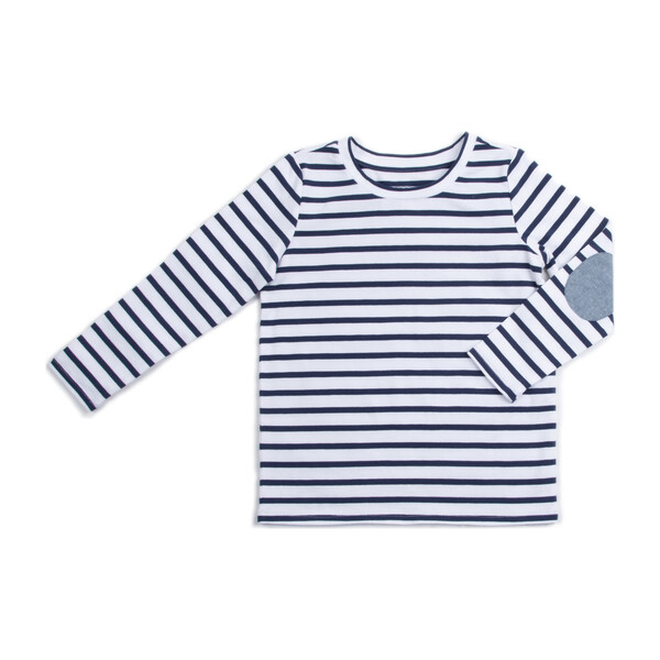 *Exclusive* Henry Shirt, Navy Stripe