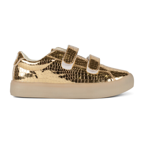 St. Laurent Sneaker, Gold Croc