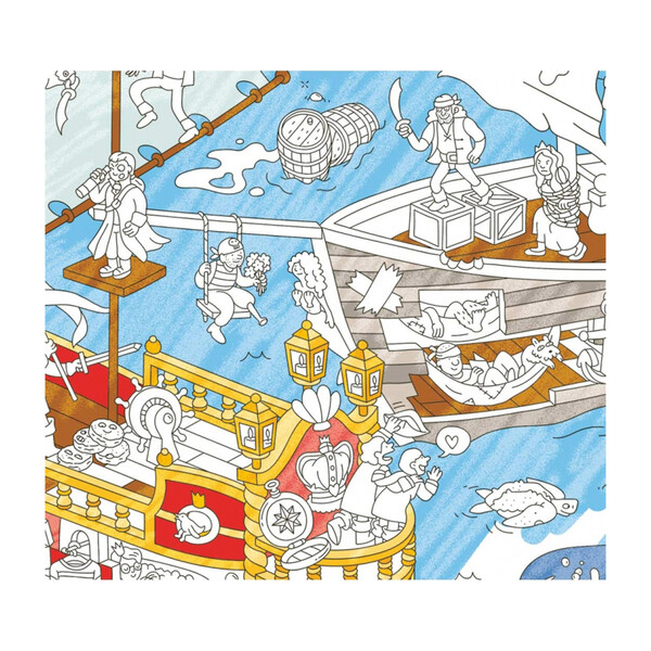 Pirates Giant Coloring Poster