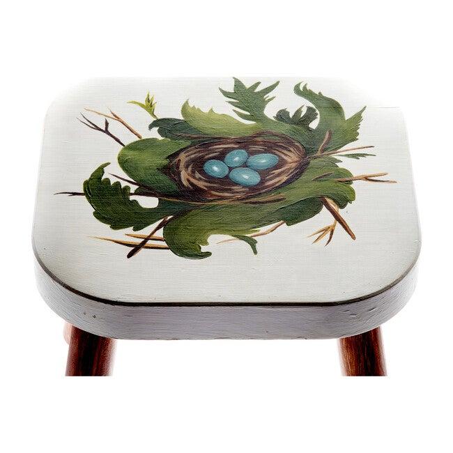 Handpainted Wooden Stool, Maggie's Nest