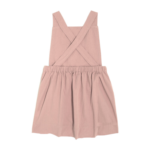 Millie Overall Dress, Blush Pink Twill