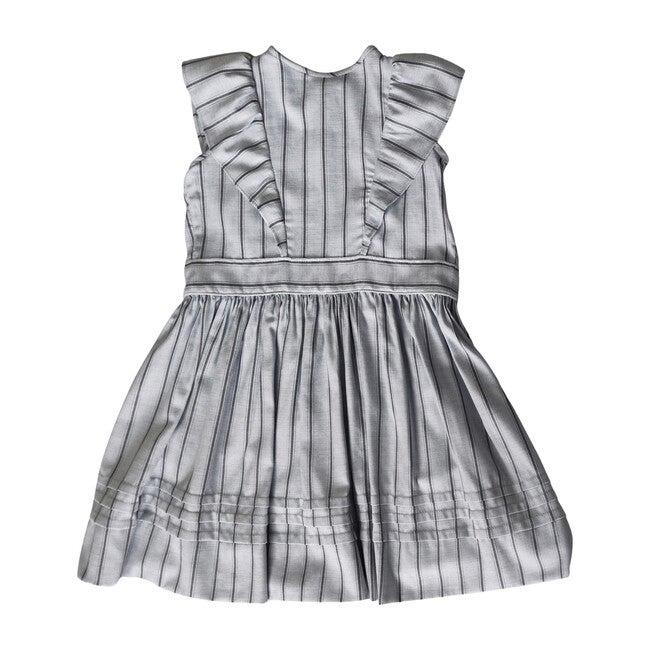 Mary Dress, Grey Stripe
