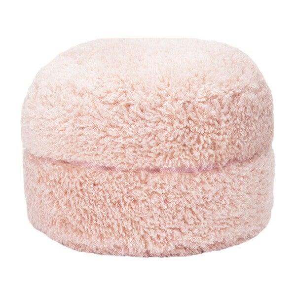 Poodle Faux Fur Storage Pouf, Pale Lilac