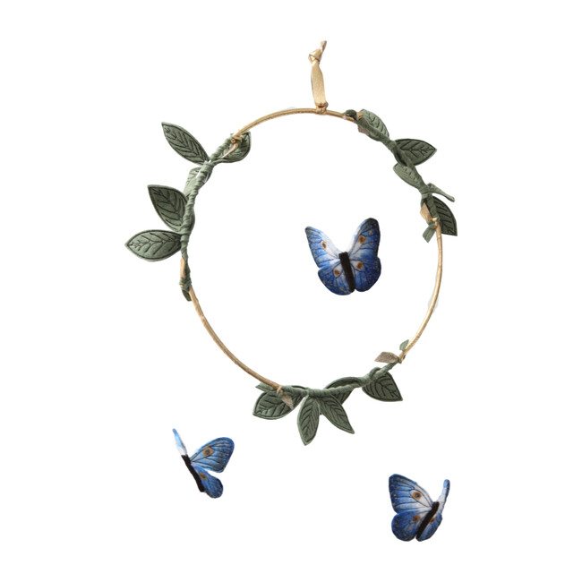 LUXE Butterfly Mobile in Indigo, Gold & Green