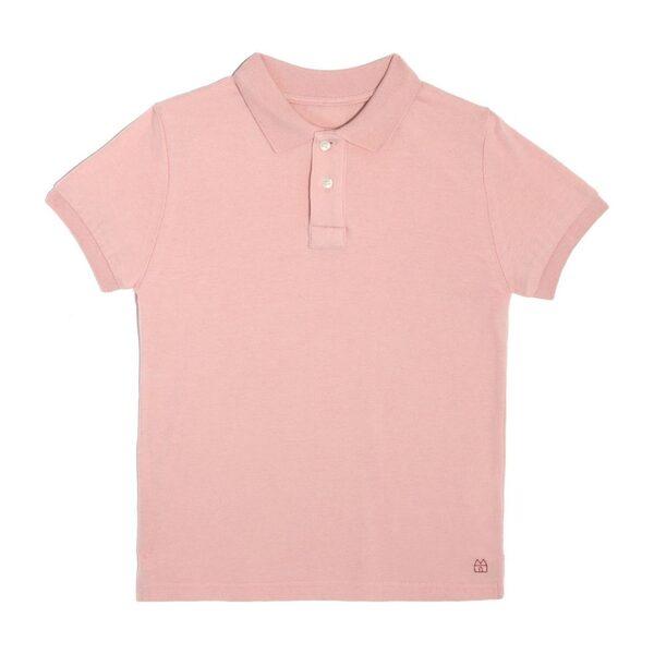 Hudson Polo Shirt, Pale Rose