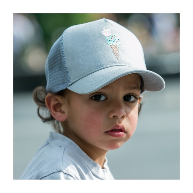 Ice Cream Sun Hat, Grey