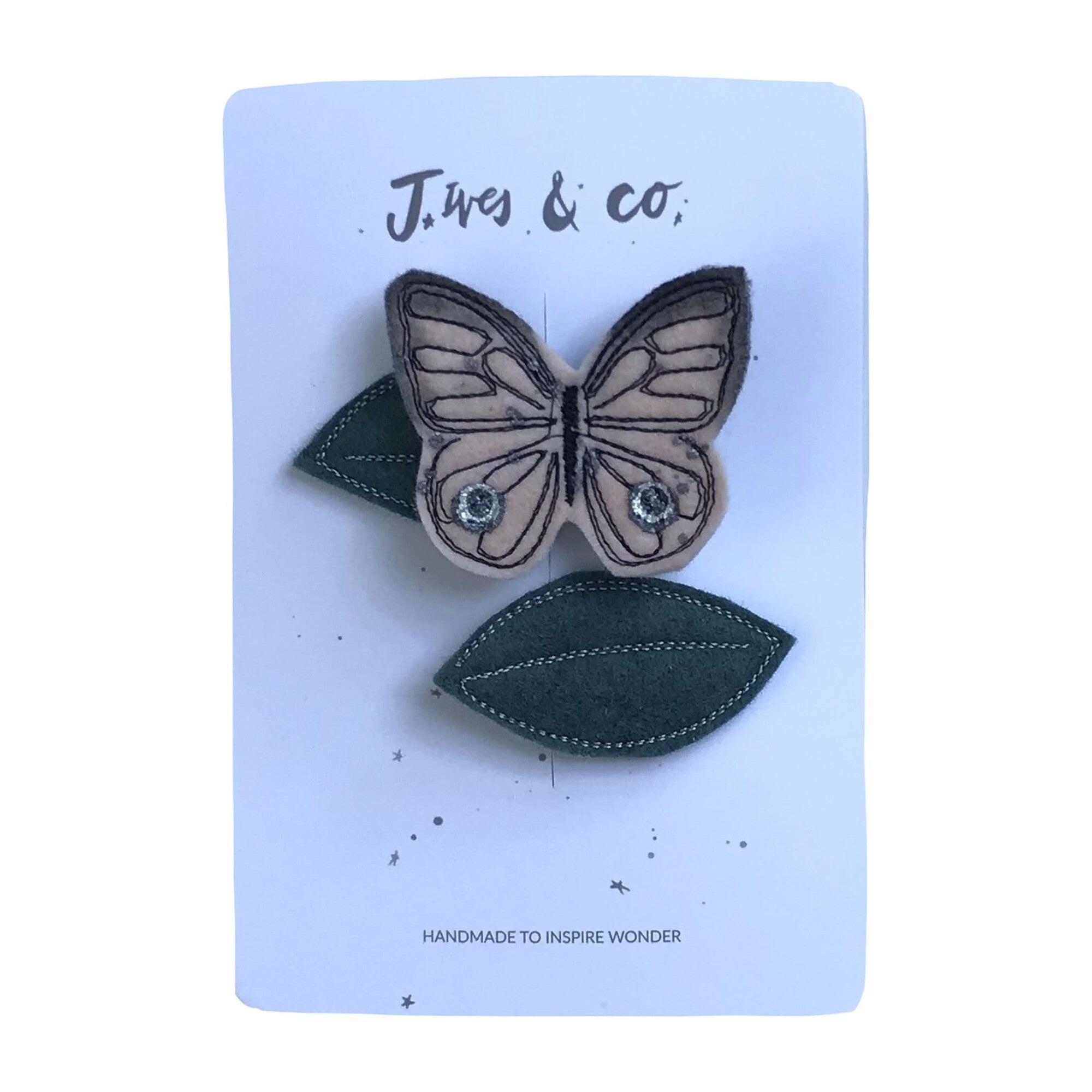 Butterfly Hair Clip Set, Blush