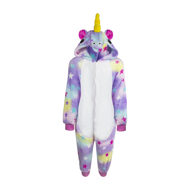 Fuzzy Unicorn Onesie, Purple