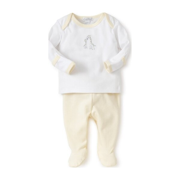 Giraffe Generations Striped Footed Pant Set