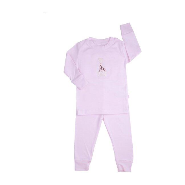 Sophie La Girafe Stripe Pajamas Large, Pink