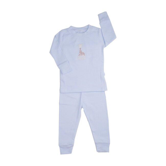 Sophie La Girafe Stripe Pajamas Large, Blue