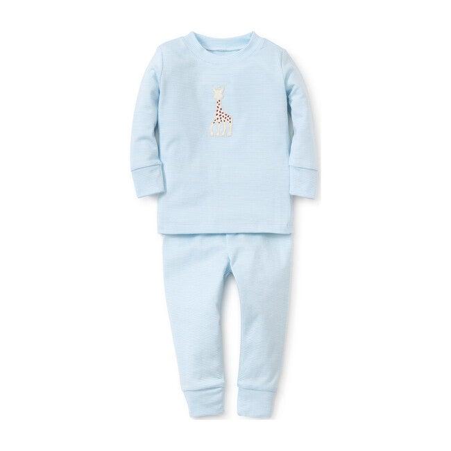 Sophie La Girafe Stripe Pajamas, Blue