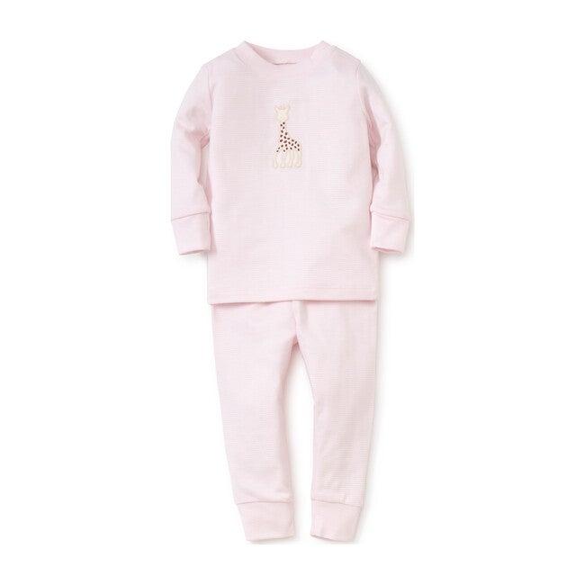 Sophie La Girafe Stripe Pajamas, Pink