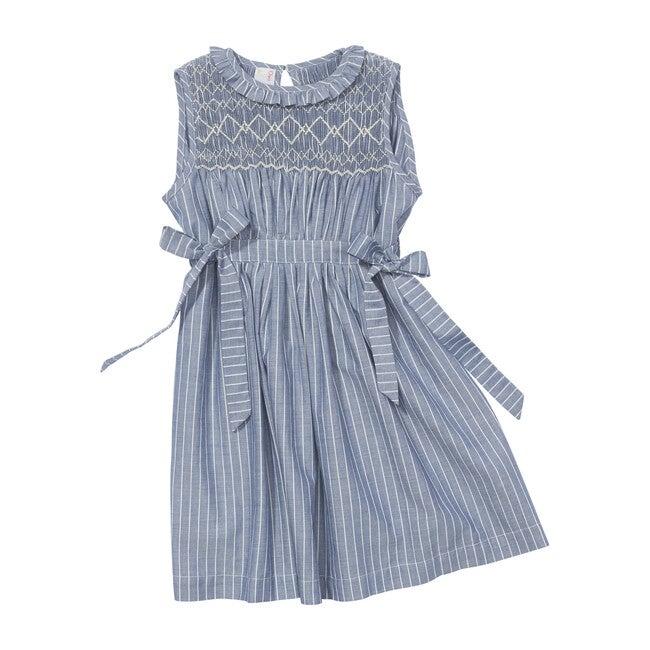 Nora Dress, Clipped Chambray