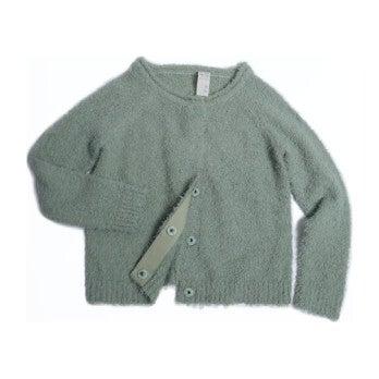 Cotton Classic Crew Neck Cardigan, Bean - Sweaters - 1