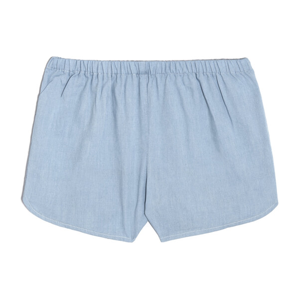 Catherine Pull-On Short, Chambray