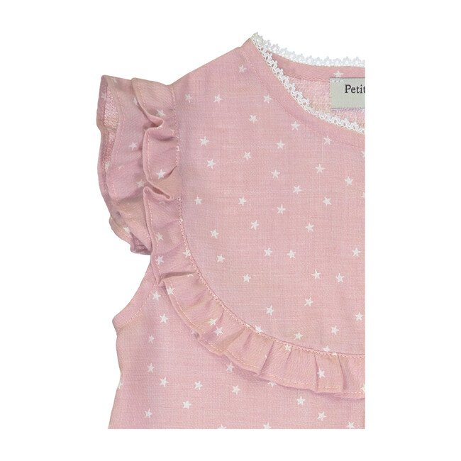 Brigitte Dress, Pink Stars