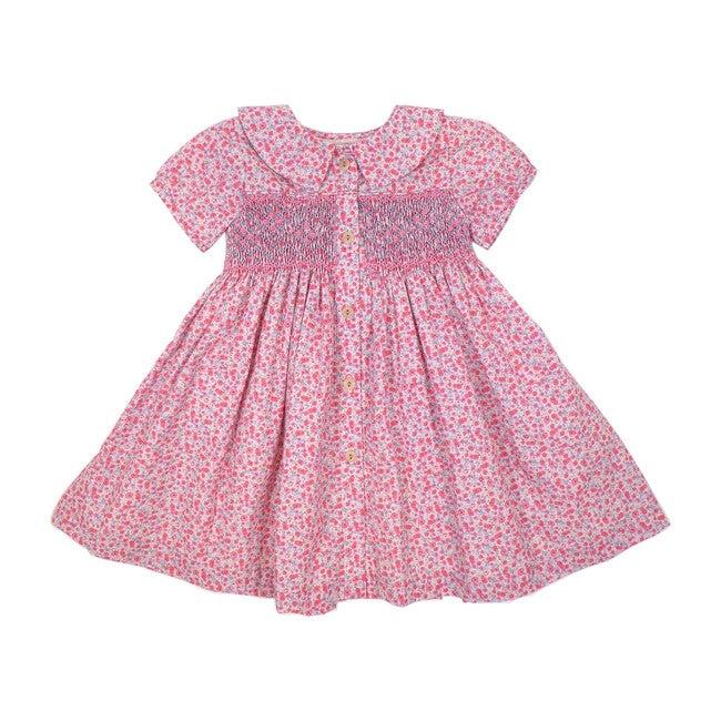 Beatrice Dress, Pink Florals - Play Dresses - 1