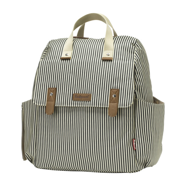 Robyn Convertible Diaper Backpack, Navy Stripe - Diaper Bags - 1