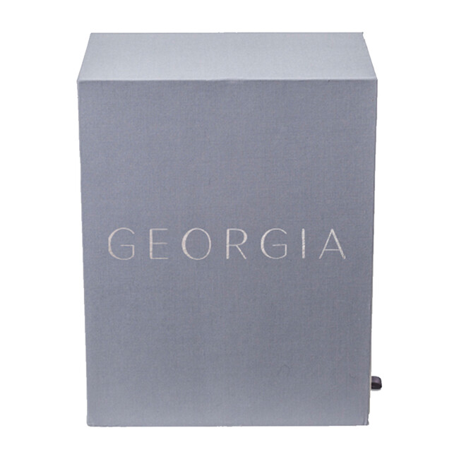 Exclusive Monogrammable Georgia Baby Keepsake Box, Slate