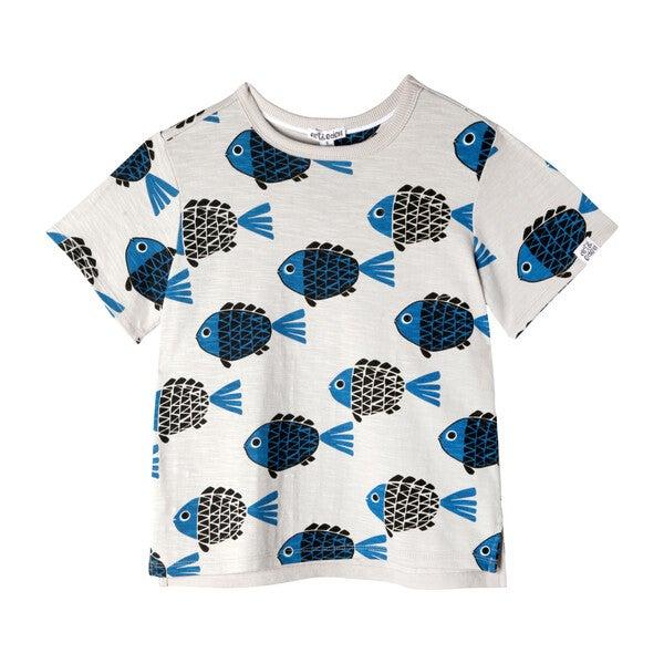 Noah T-Shirt, Grey Fish