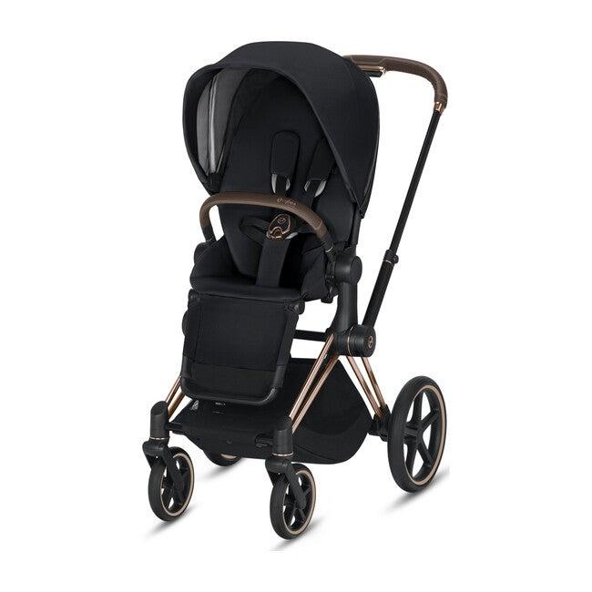 Priam 3 One Box Solution, Rose Gold Frame + Premium Black Seat