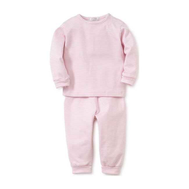 Simple Stripe Pant & Tee Set, Pink