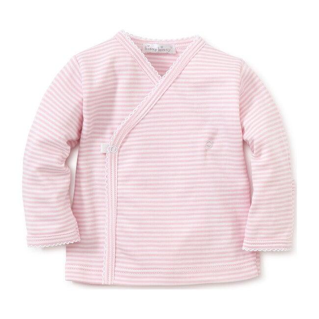 Simple Stripe Cross Tee, Pink