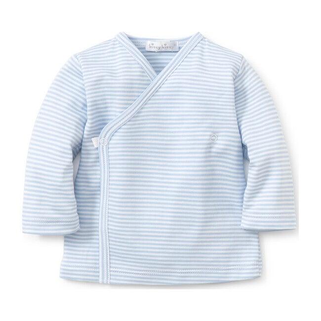 Simple Stripe Cross Tee, Blue