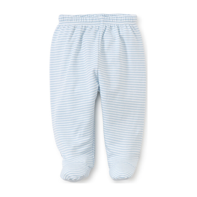 Simple Stripe Footed Pant, Blue