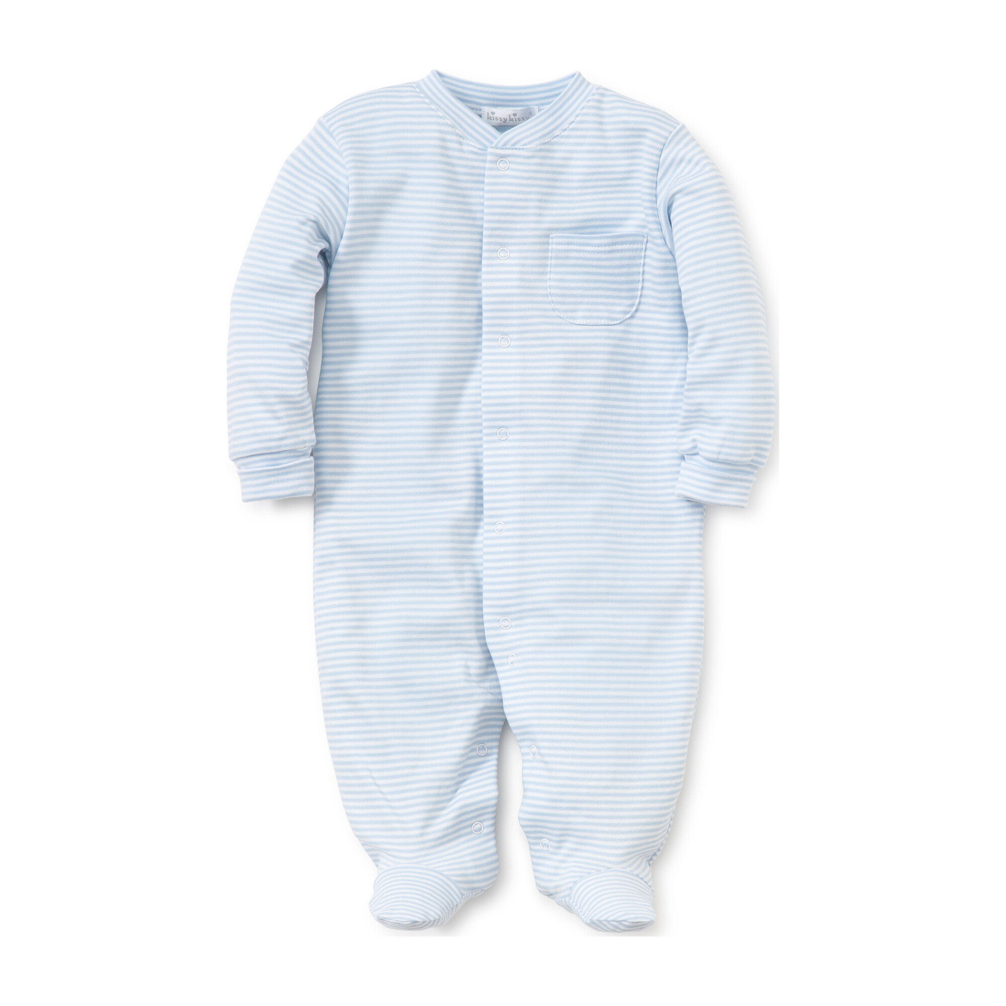 Simple Stripe Footie, Blue