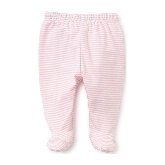 Simple Stripe Footed Pant, Pink