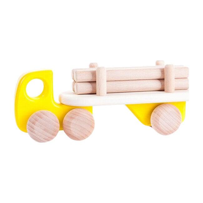 Logging Truck, Yellow - Transportation - 1