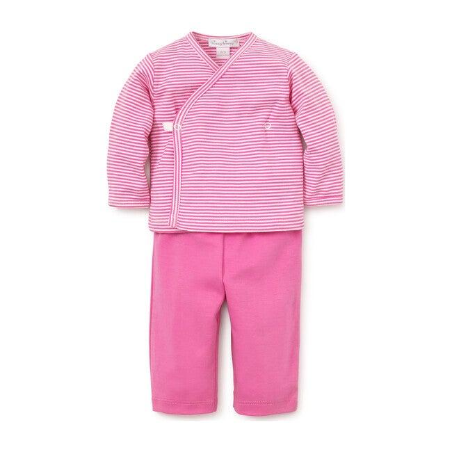 Essentials Striped Cross Tee & Pant Set, Fuchsia