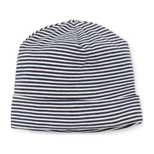 Essentials Striped Hat, Navy - Hats - 1