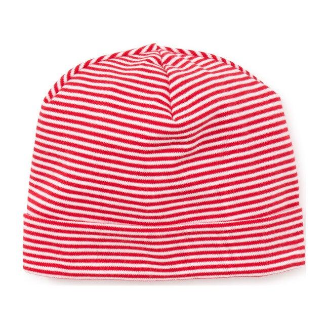 Essentials Striped Hat, Red