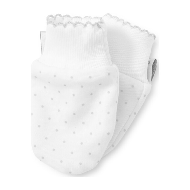 New Dots Mitts, White/Grey