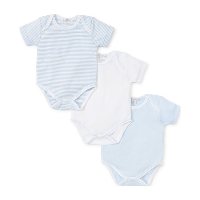 3pc Striped Onesie Set, Blue