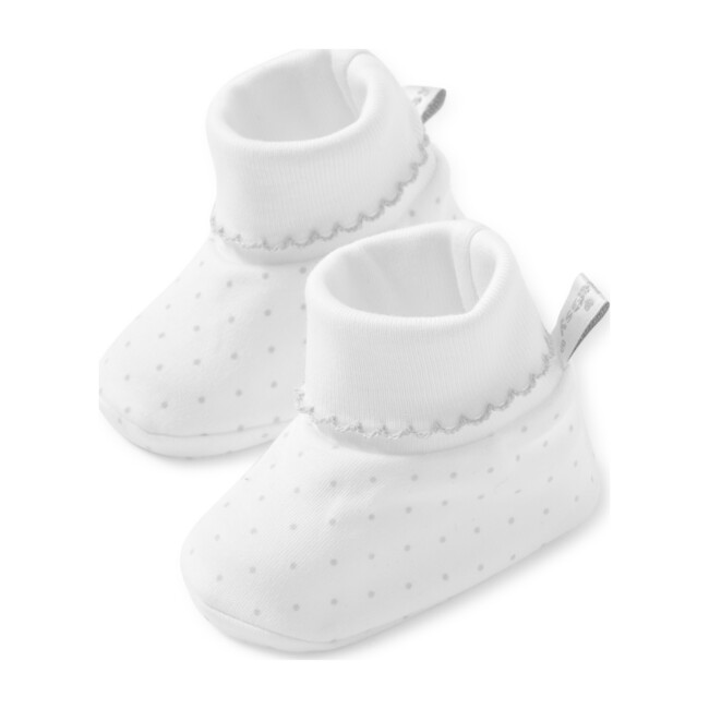 New Dots Booties, White/Grey