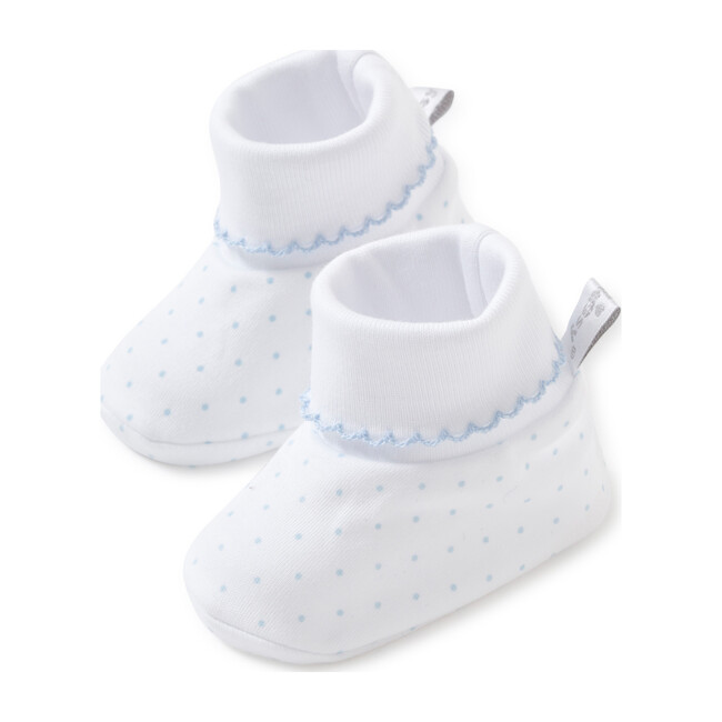 New Dots Booties, White/Blue