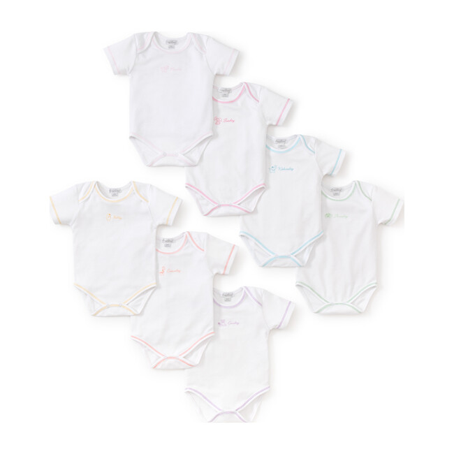 Girls Days of the Week Onesies Set