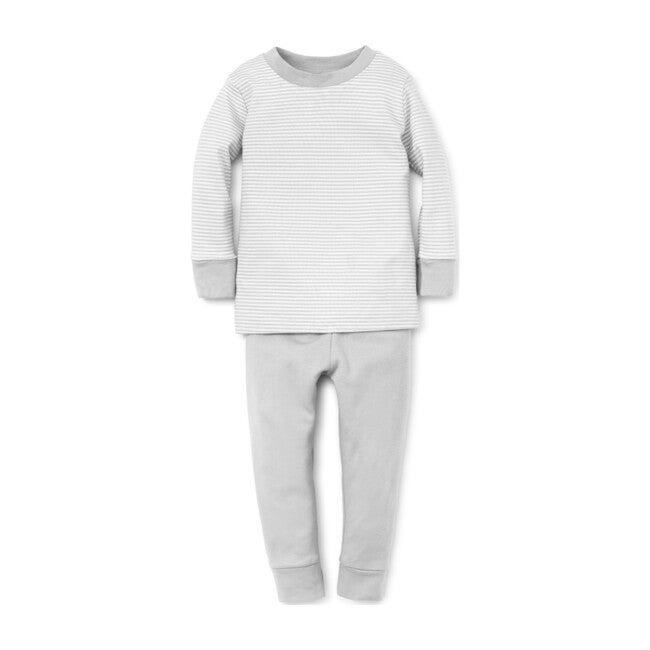 Essentials Striped Pajama Set, Grey